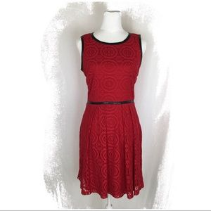 NWOT Red Lace Overlay Dress